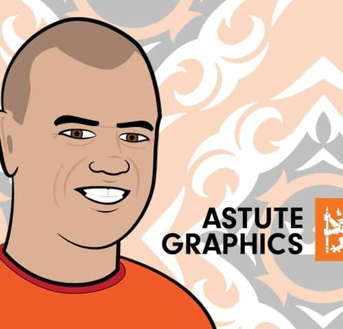 Caricature of Nick from Astute Graphics