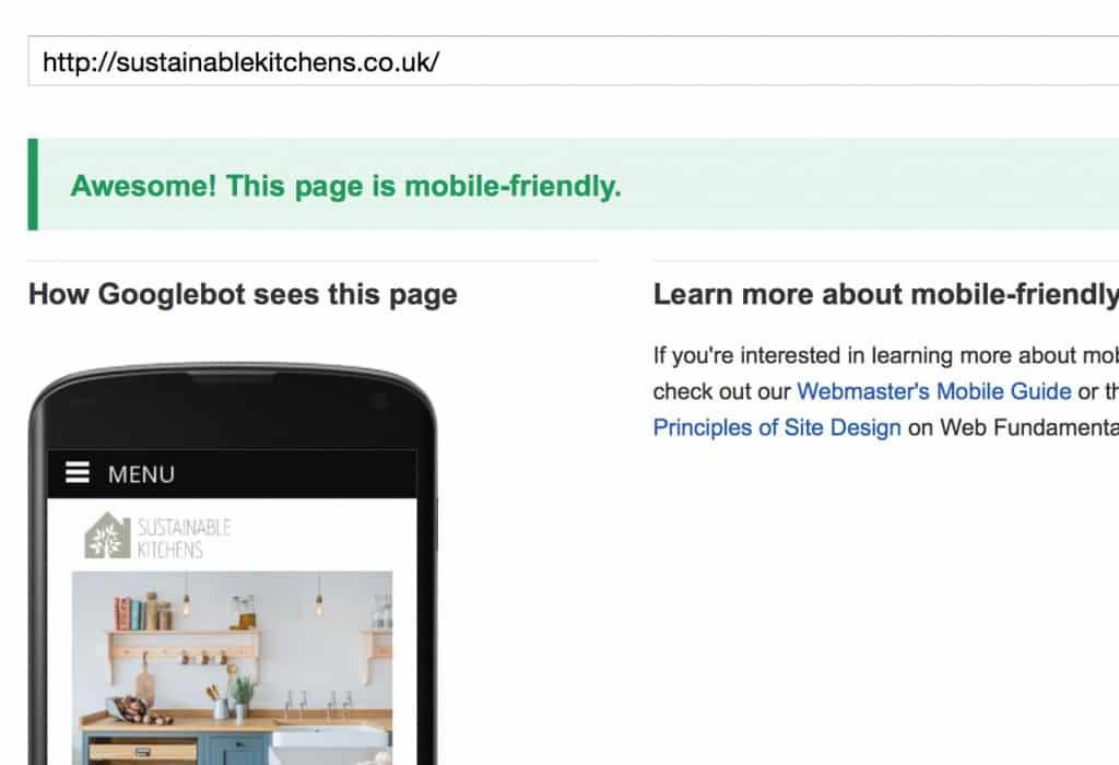 Mobile friendly screen shot