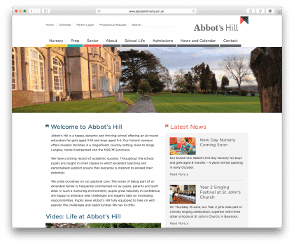 Abbots Hill website