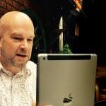 Jonathan Periscoping on his iPad