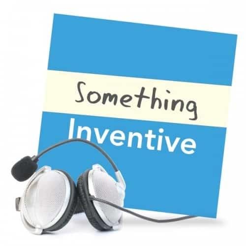 Something Inventive podcast artwork with headphones