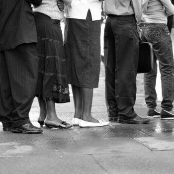 Nairobians queuing up for a bus - Xiaojun Deng