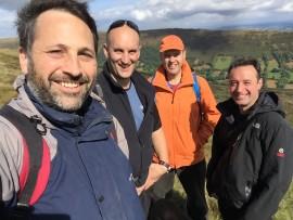 Ben, Jon, Nick, Alex. Walking with clients Sept 2016