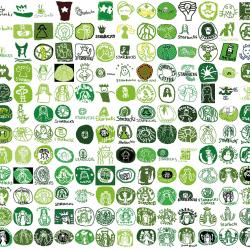 Hand drawn Starbucks logos