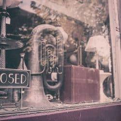Tuba in a shop window