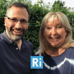 Photo of Minx Media Founder Heidi Chamberlain-Jones with Ben Kinnaird