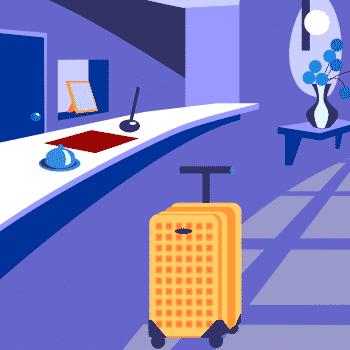 Illustration of a hotel reception