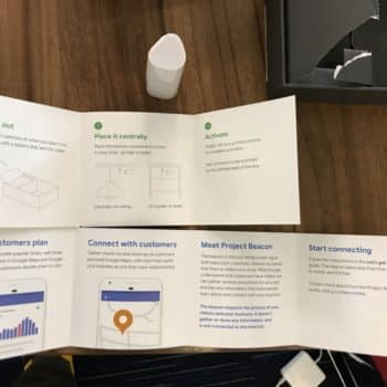 Overview shot of what you receive in the package from Google's Project Beacon