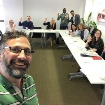 Ben takes selfie at workshop