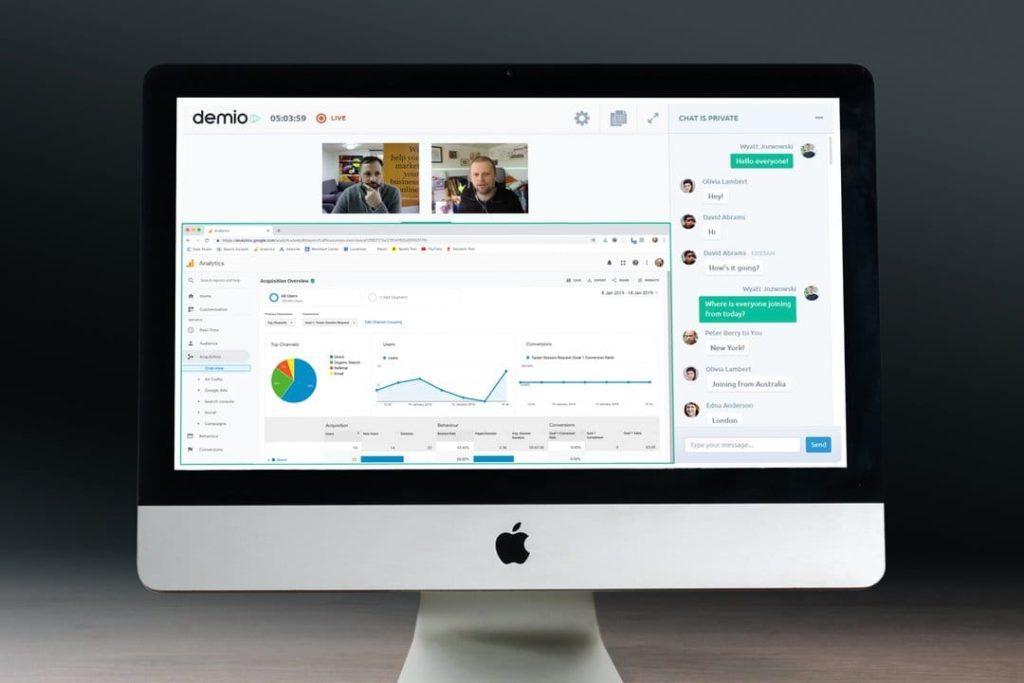 Internet Marketing Club Membership on iMac screen