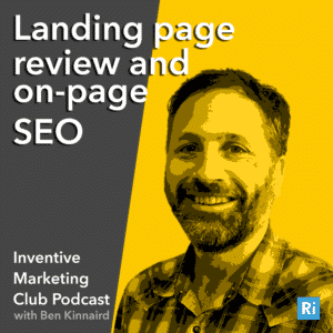 IMC Podcast #3 Landing page review and on-page SEO