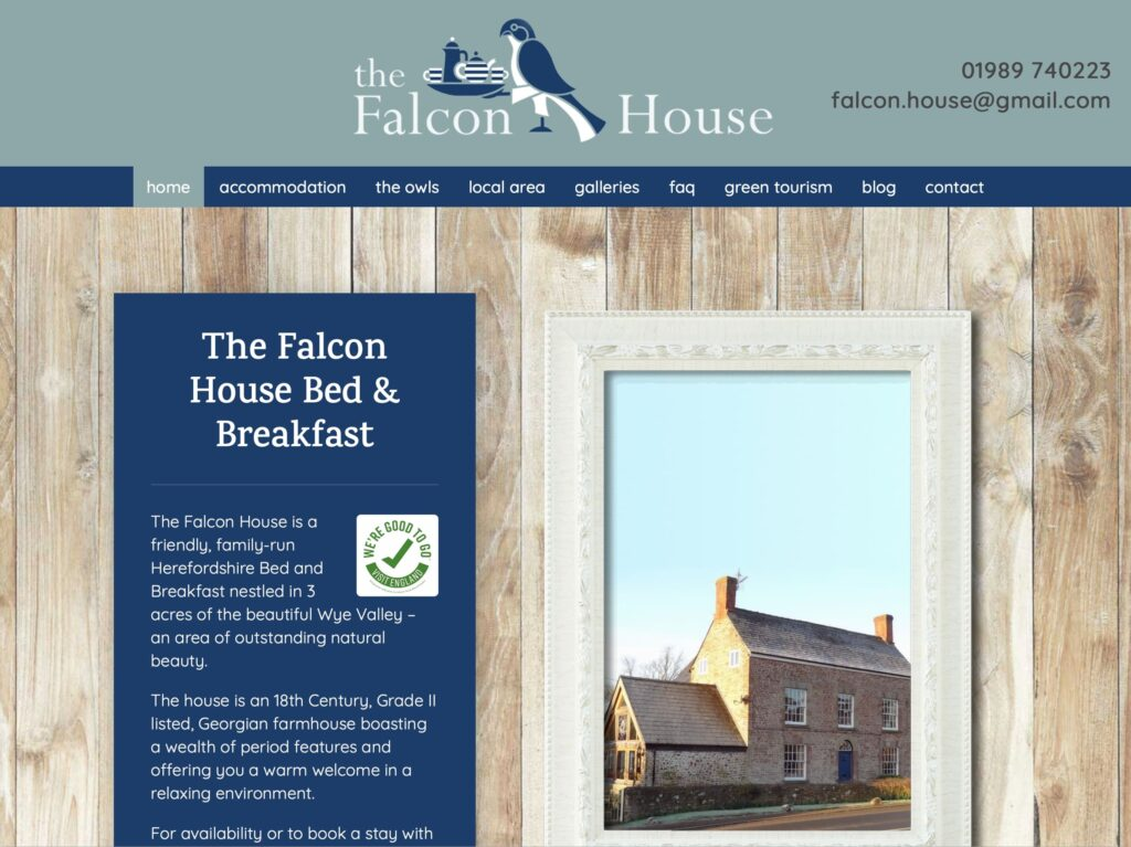 The Falcon House website thefalconhouse.co.uk