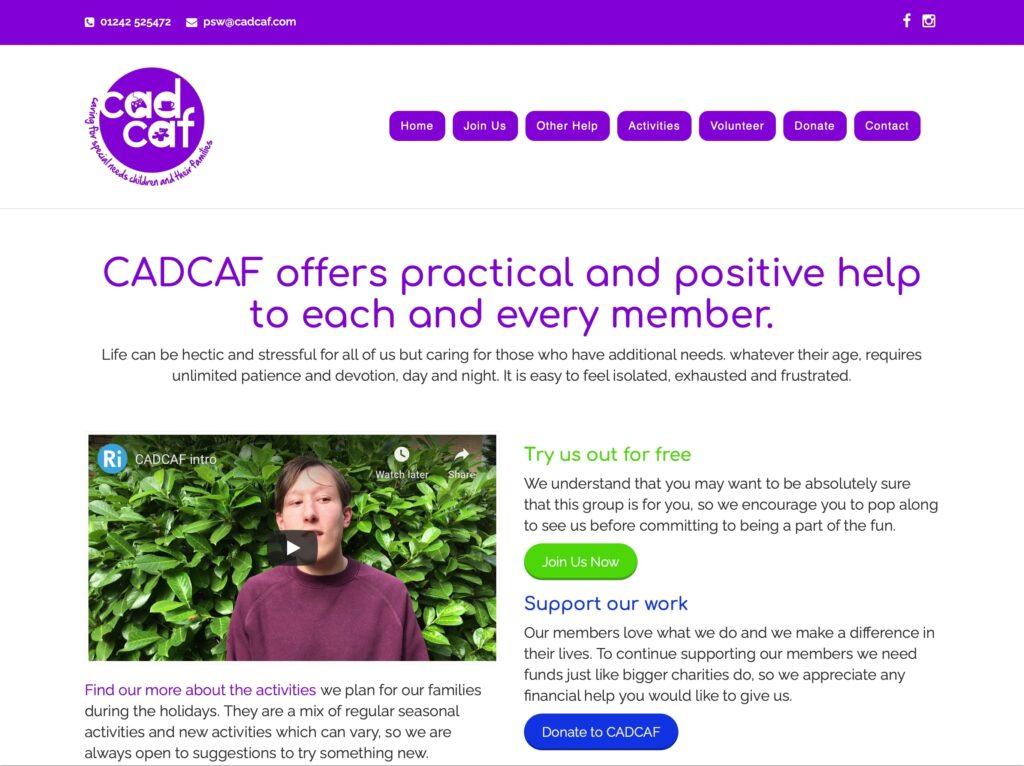 CADCAF website cadcaf.com