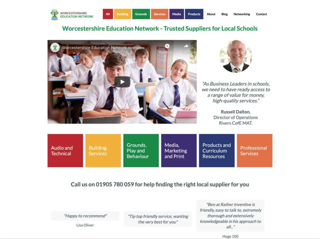 The Education Network website worcestershireeducationnetwork.co.uk
