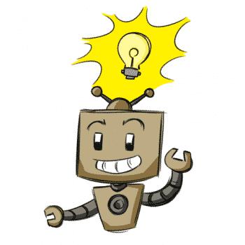 Robot has a bright idea