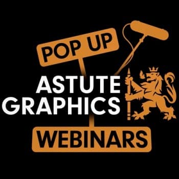 Astute Graphics Pop up Webinar logo