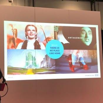 Ed Woodcock storytelling slide integrated live
