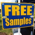 Sign with writing Free Samples on